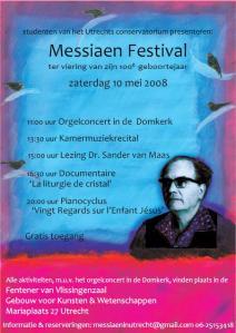 Messiaen festival flyer